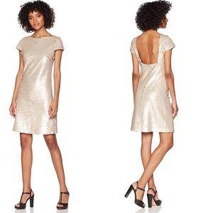 🌿 Sam Edelman Champagne Sequin Cocktail Dress